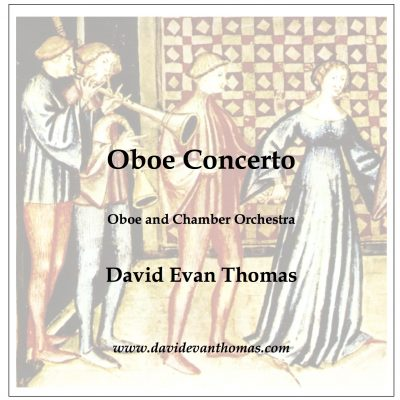 medieval musicians serenading with oboe concerto