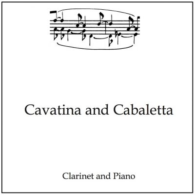 clarinet recital piece product image text