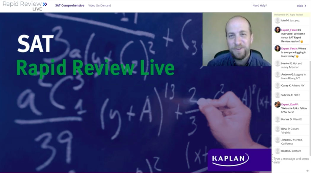 Kaplan interactive livestreaming course