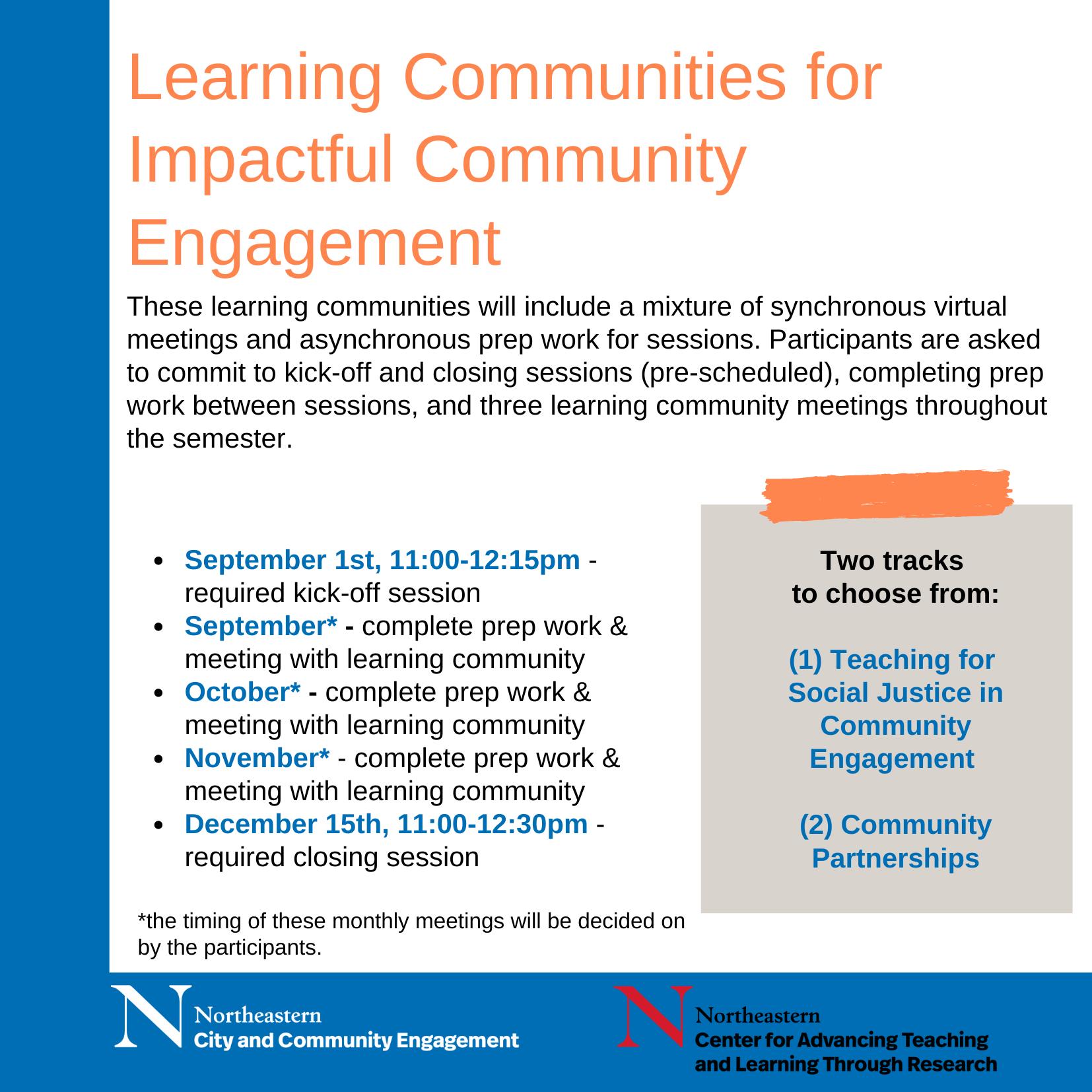 Learning Communities for Impactful Community Engagement: Community Partnerships