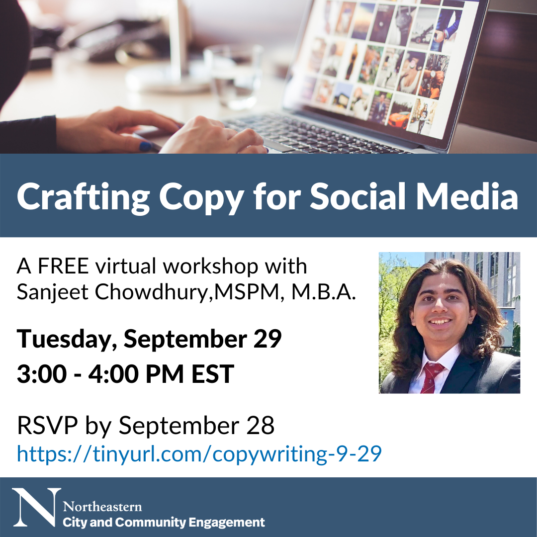 Public Digital Marketing Workshop Series: Crafting Copy for Social Media