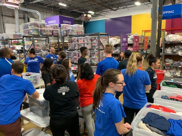 Resident Advisors Community Service with Cradles to Crayons