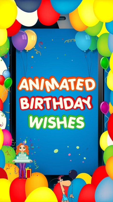 IPhone Animated 3D Birthday Emoji Wishes Cards Emoticons
