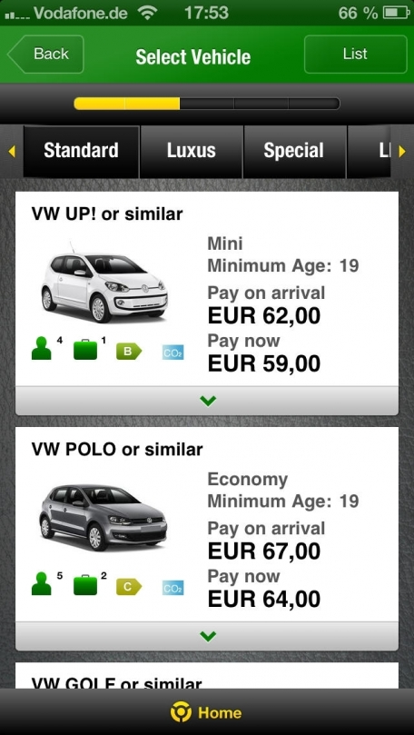 Europcar Car And Van Rental Worldwide Rent Any Kind Of Vehicles