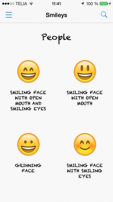 Emoticon lookup