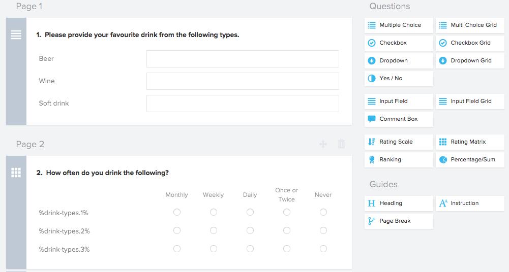 Multi identifier questions