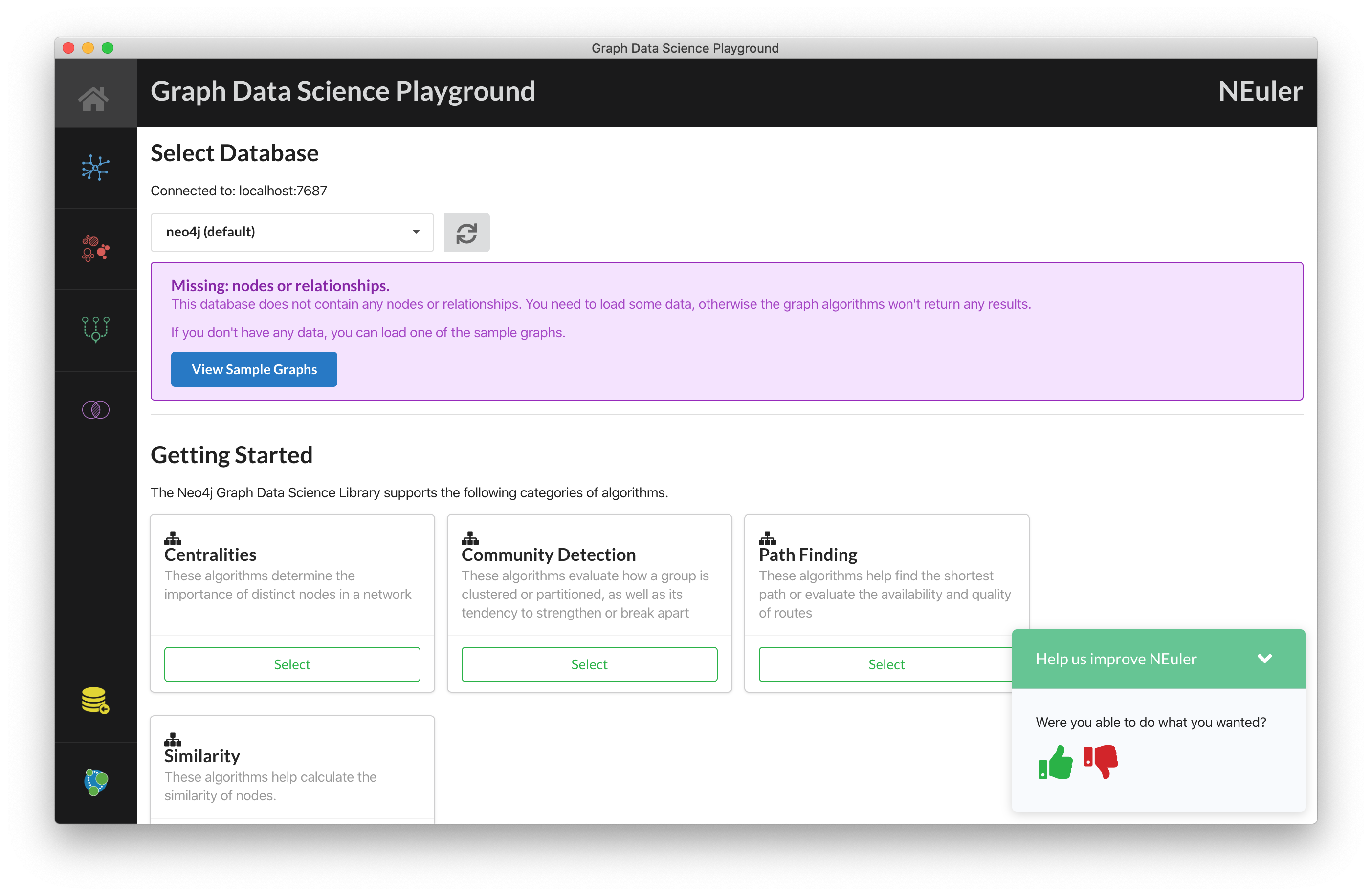 Graph Data Science Playground Started