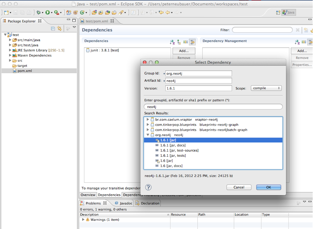 How to set up a maven project with Neo4j in Eclipse - Neo4j