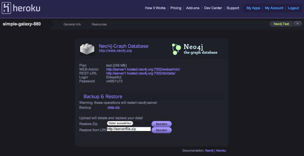 public> heroku addons:add neo4j - Neo4j Graph Database Platform