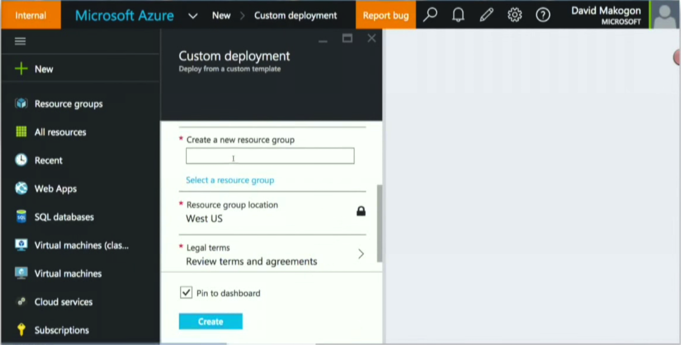 Defining a Resource Group in Microsoft Azure
