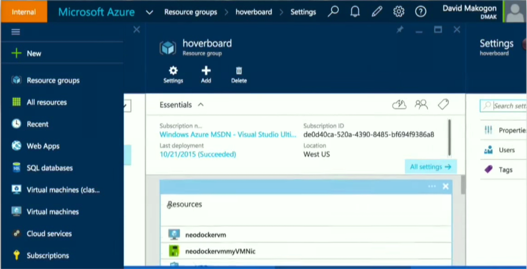 Grouped Resources in Microsoft Azure