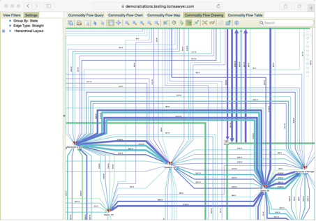 Learn How to Simplify Commodity Flows in This Sample Application Using Tom Sawyer Perspectives