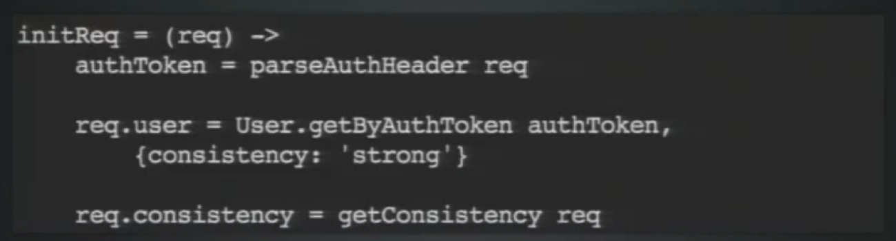 A Master Has Strong Consistency during an Auth Lookup