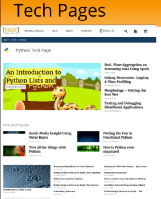 The Packt Publishing Python Tech Page