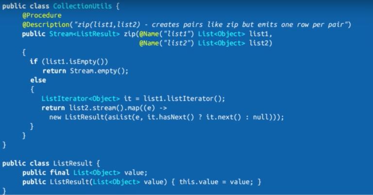 The Cypher zip Function Stored Procedure