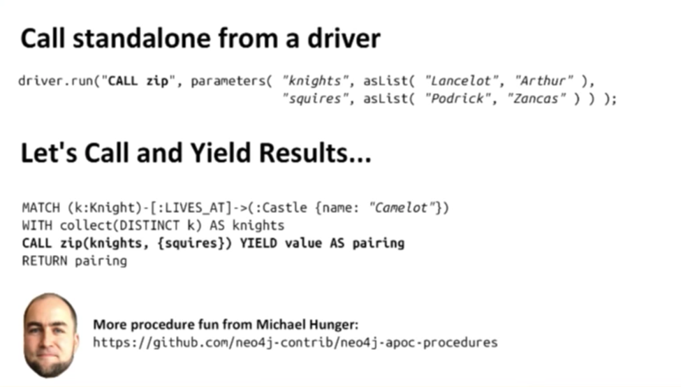 Driver Test: Standalone vs. CALL and YIELD in Cypher
