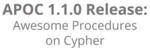 "Learn what's new in the 1.1.0 release of in the Awesome Procedures on Cypher (a.k.a. ""APOC"") library"