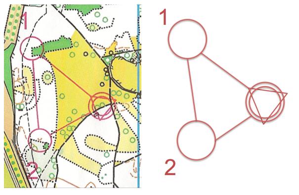 Finding the shortest path through the park (i.e. orienteering) via a graph algorithm