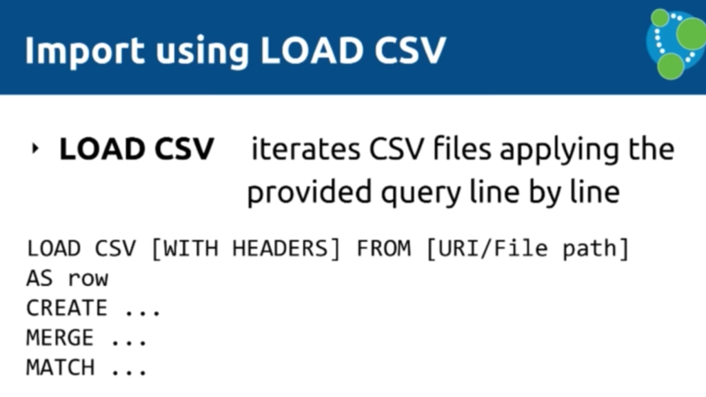 Data import using LOAD CSV