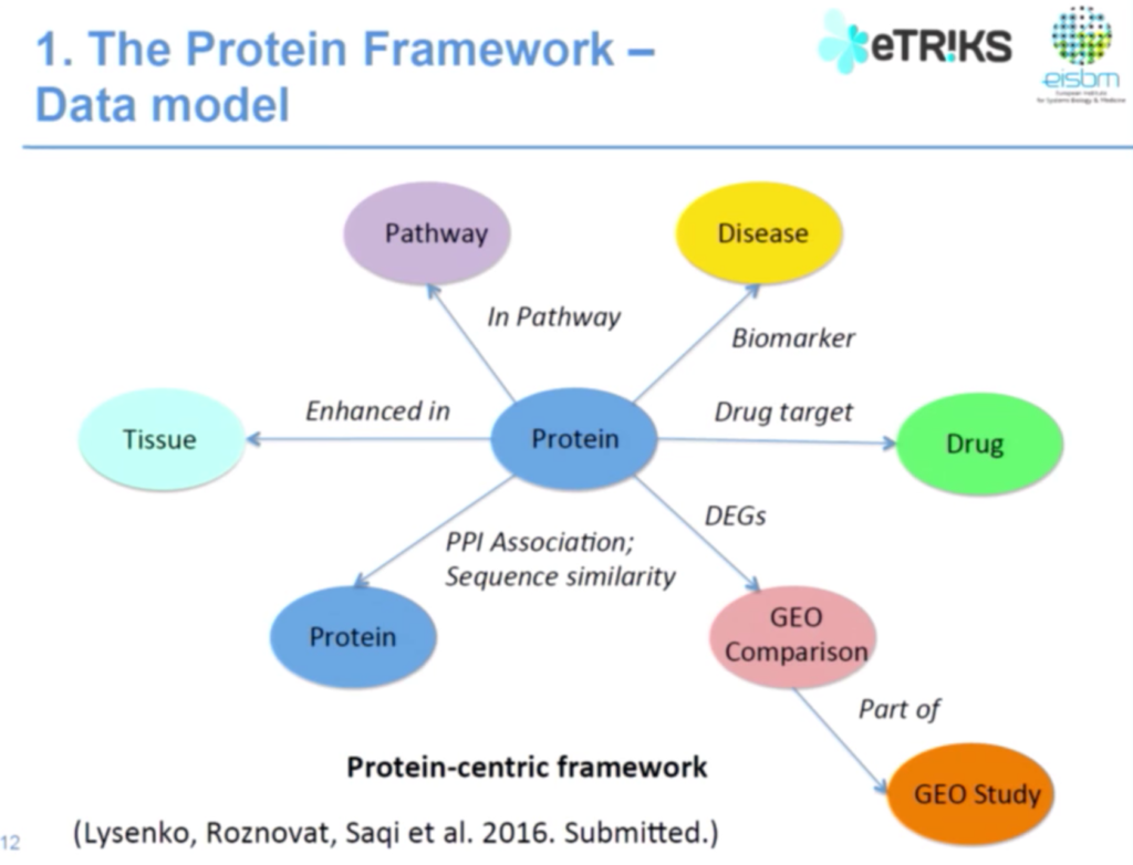 The data model of the protein framework