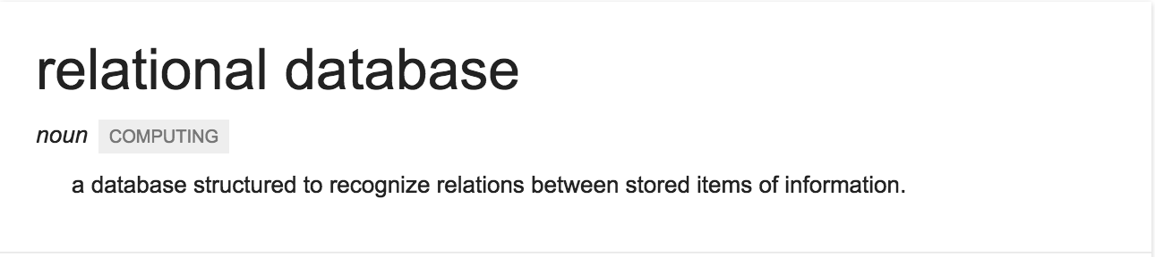 Definition of Relational Database