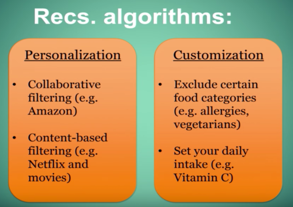 Recommendation engines include both collaborative and content-based filtering, as well as customization