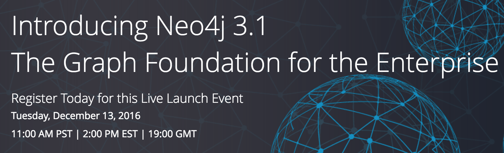 Learn all about the GA release of Neo4j 3.1 and the live launch event introducing it to the world