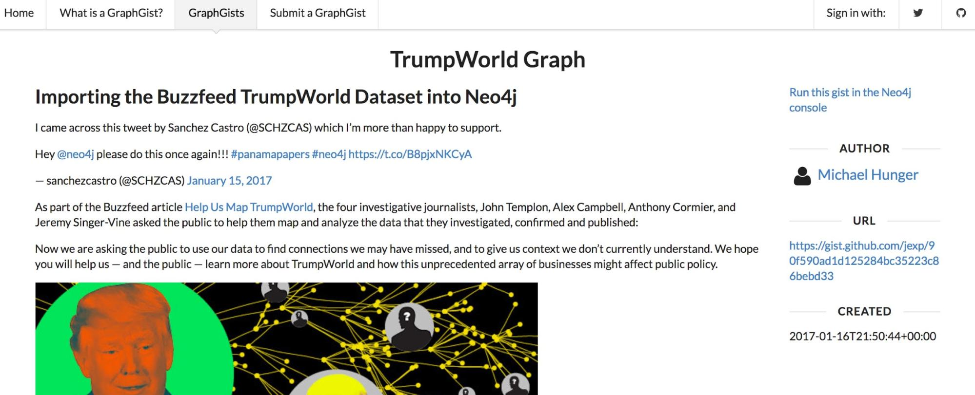 Analyzing the BuzzFeed TrumpWorld Dataset with Neo4j