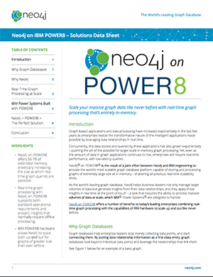 Download this Datasheet: Neo4j on IBM Power8 - Solutions Data Sheet