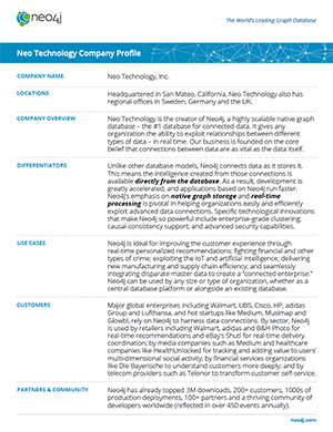 Download this Datasheet: Neo Technology Company Profile