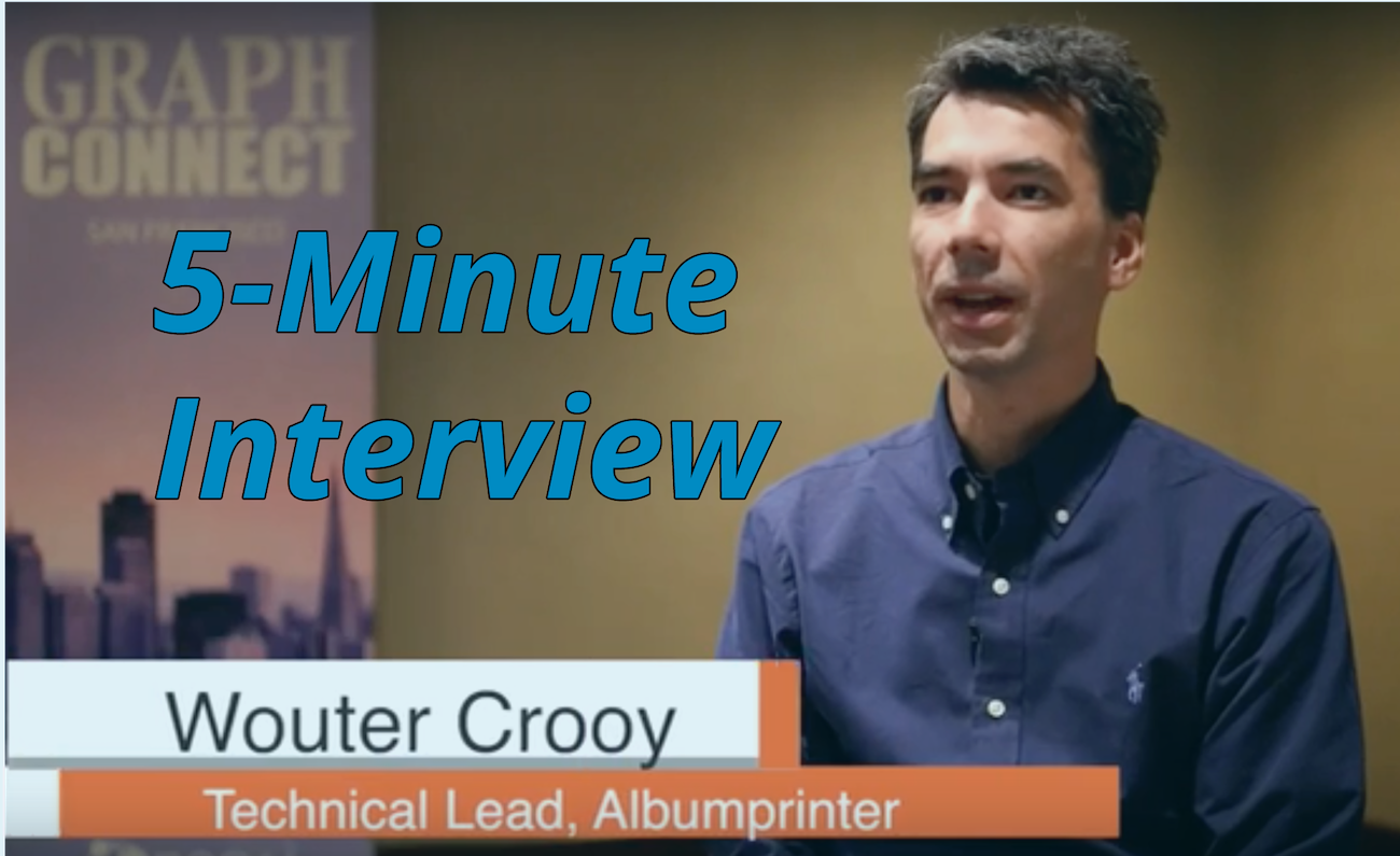 Catch this week's 5-Minute Interview with Wouter Crooy, Technical Lead at albumprinter