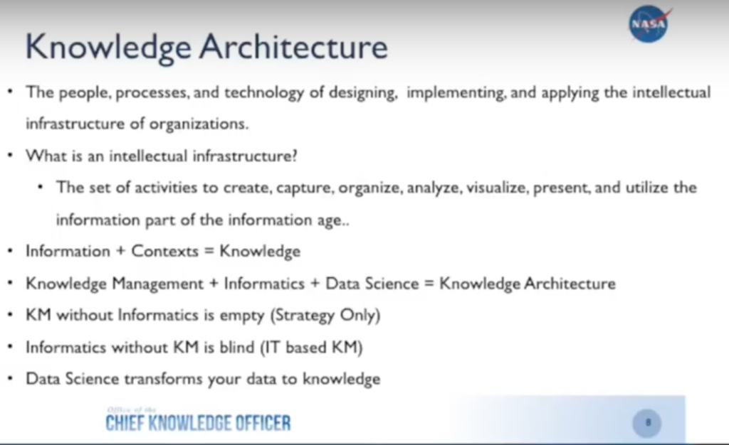 The benefits of knowledge architecture