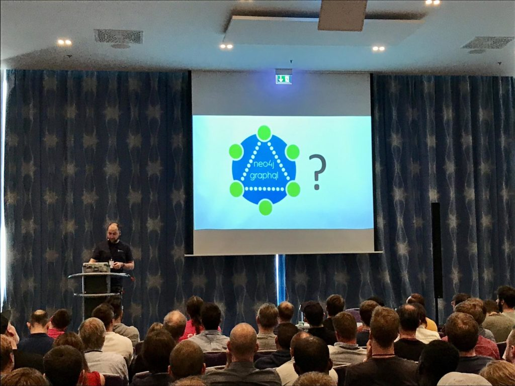 Michael Hunger from Neo4j presenting at the GraphQL Europe conference