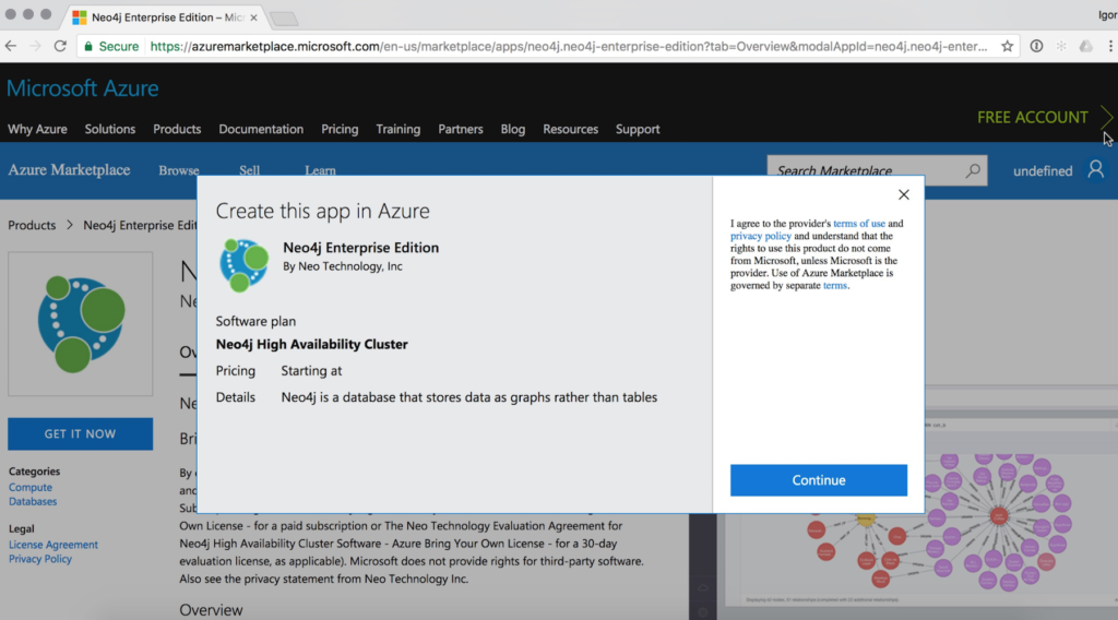 Neo4j Enterprise Edition in the Microsoft Azure Marketplace