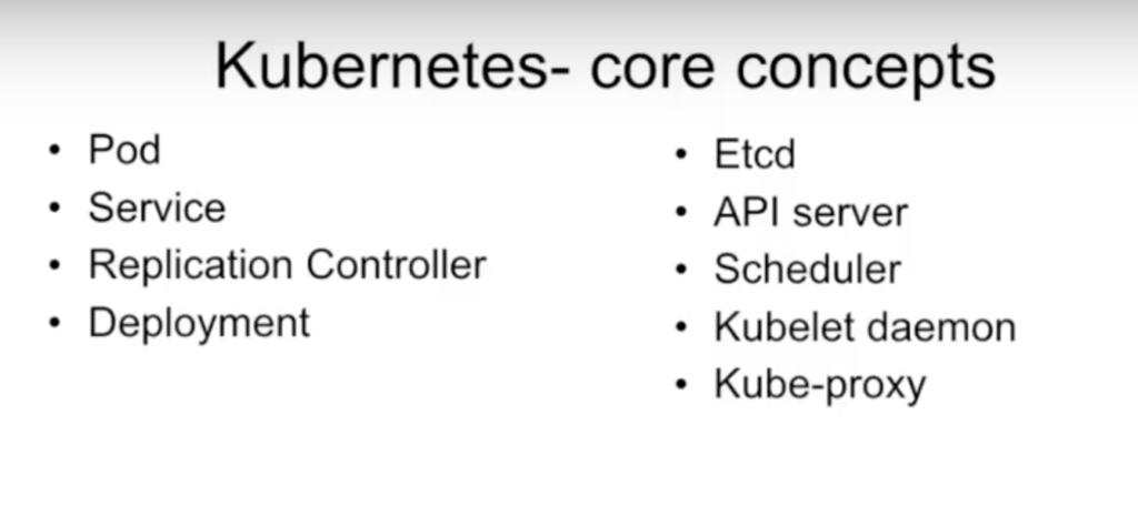 Kubernetes core concepts