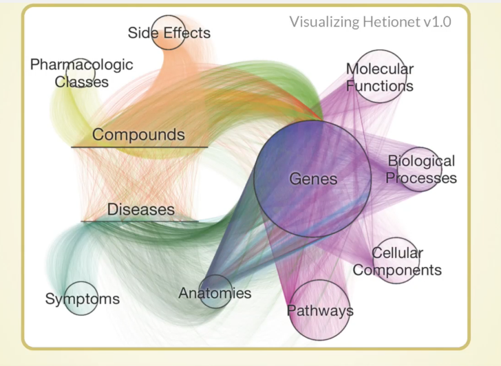 Watch Daniel Himmelstein's presentation on the heterogeneous biomedical network Hetionet