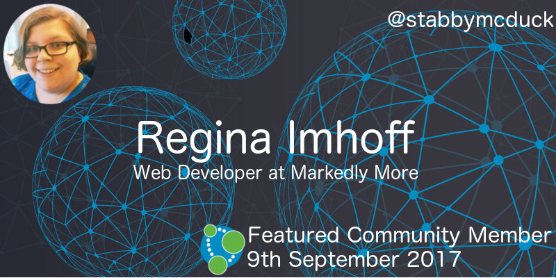 Regina Imhoff - This Week's Featured Community Member