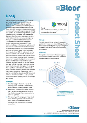 Read this Bloor Research product sheet, independent analysis of the Neo4j graph database