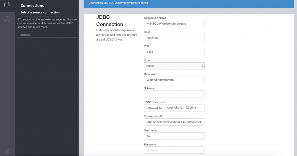 JDBC connection setup in Neo4j ETL