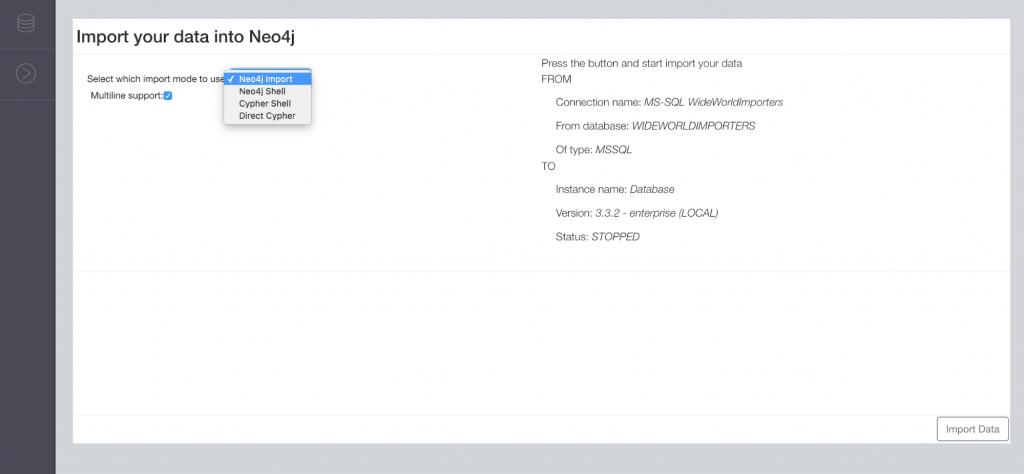 Data import modes in Neo4j ETL