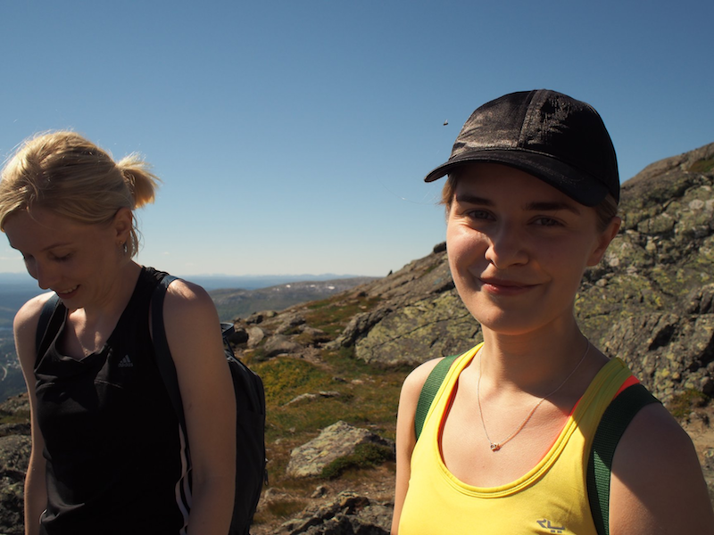 Pink Programming data science camp, hiking in Sweden.