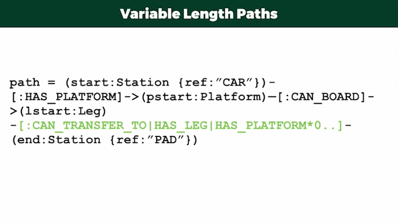 Variable length paths using Cypher.