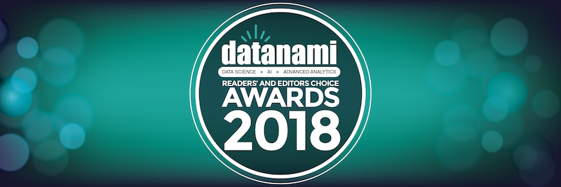 Datanami 2018 Readers & Editors Choice Awards, in which Neo4j won in the operational database category