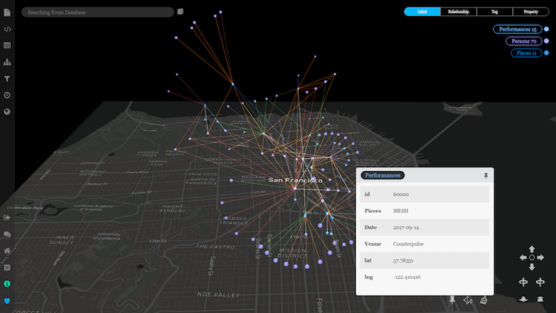 Discover graph database exploration via geospatial visualization.