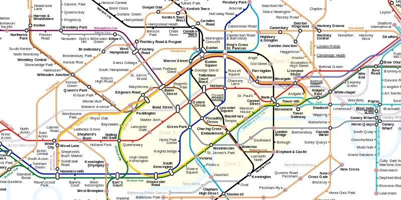 Going Underground: Graphing and Pathfinding London Tube Lines