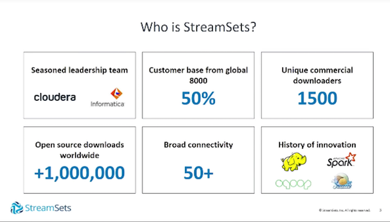 Learn about StreamSets.