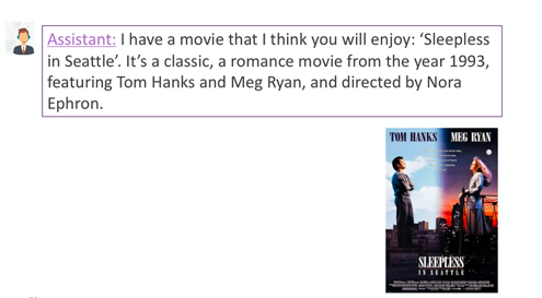Finally the virtual assistant suggests a movie based off of the users preferences