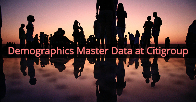 Learn about demographics master data at Citigroup.