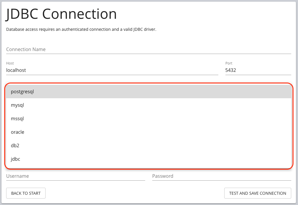 etl7 connection db options