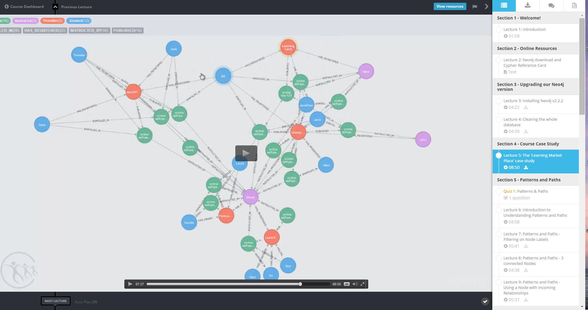 Learn about This Neo4j Database Course Taught by Bruce Hilton